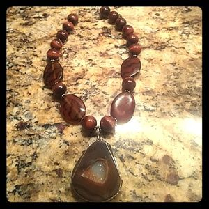 Jewelry - Large natural stone necklace